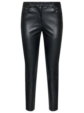 My Twin Kožené nohavice 202MP2081 Čierna Skinny Fit