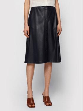 Boss Boss Suknja od imitacije kože C_Vefy 50450606 Crna Regular Fit