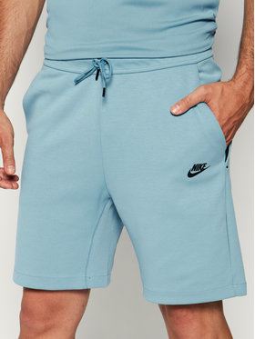 NIKE NIKE Short de sport Sportswear Tech Fleece 928513 Bleu Standard Fit