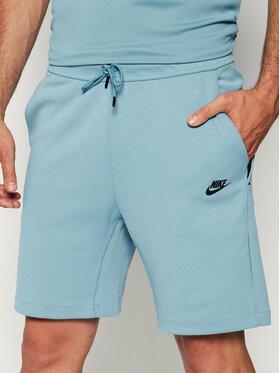 NIKE NIKE Спортни шорти Sportswear Tech Fleece 928513 Син Standard Fit