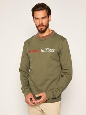 TOMMY HILFIGER TOMMY HILFIGER Sweatshirt Logo Embroidery UM0UM01802 Grün Regular Fit