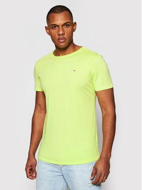 Tommy Jeans Tommy Jeans T-shirt Jaspe DM0DM09586 Verde Slim Fit