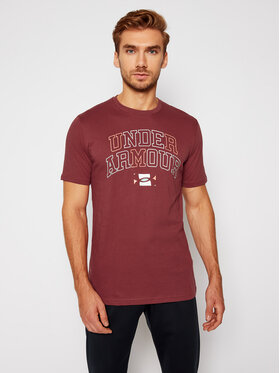 Under Armour Under Armour Тишърт Ua Multicolor Collegiate 1357164 Бордо Loose Fit