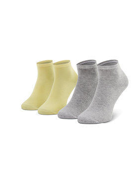 Tommy Hilfiger Tommy Hilfiger 2 pár hosszú szárú női zokni 373001001 Sárga