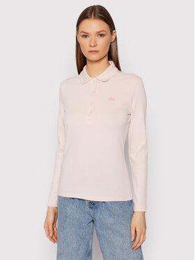 Lacoste Lacoste Тениска с яка и копчета PF5464 Розов Slim Fit