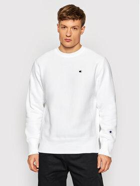 Champion Champion Majica dugih rukava Reverse Weave C Logo 216495 Bijela Regular Fit