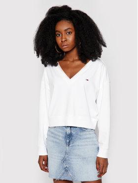 Tommy Jeans Tommy Jeans Bluza Soft DW0DW09801 Biały Regular Fit