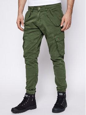 Alpha Industries Alpha Industries Spodnie materiałowe Combat 126215 Zielony Slim Fit
