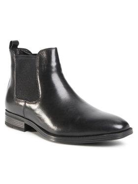 Wittchen Wittchen Členková obuv s elastickým prvkom 91-M-912-1 Čierna