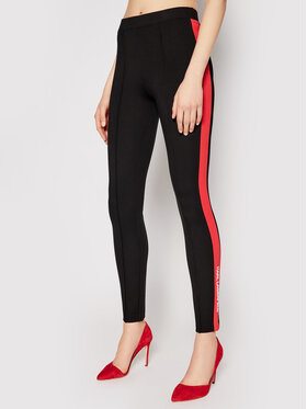 KARL LAGERFELD KARL LAGERFELD Leggings Contrast Panel Punto 211W1061 Noir Skinny Fit