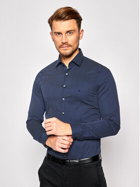 Calvin Klein Calvin Klein Chemise Print Easy Care K10K106212 Bleu marine Slim Fit
