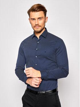 Calvin Klein Calvin Klein Koszula Print Easy Care K10K106212 Granatowy Slim Fit