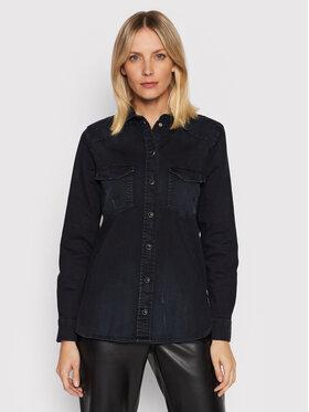 Guess Guess camicia di jeans W1BH14 D4HL1 Blu scuro Regular Fit