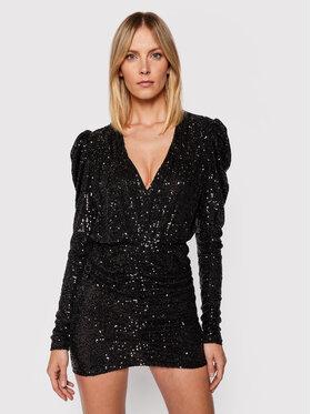 Pinko Pinko Koktel haljina Resistencia 20212 BLK01 1G16MJ Y7DW Crna Regular Fit