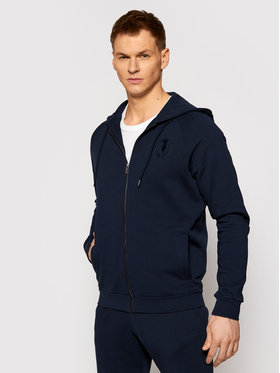 Trussardi Trussardi Bluza Full Zip With Hood 52F00175 Granatowy Regular Fit