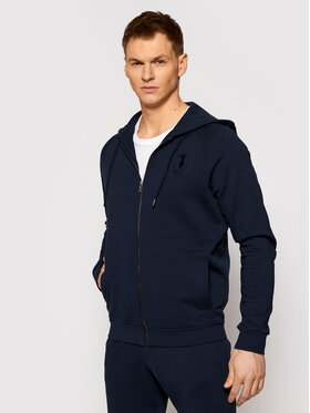 Trussardi Trussardi Felpa Full Zip With Hood 52F00175 Blu scuro Regular Fit