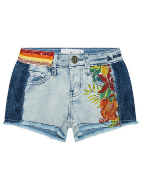 Desigual Desigual Pantaloni scurți de blugi Rubi 21SGDD06 Albastru Regular Fit
