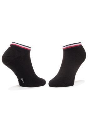 TOMMY HILFIGER TOMMY HILFIGER Sada 2 párů nízkých ponožek unisex 320204001 Černá