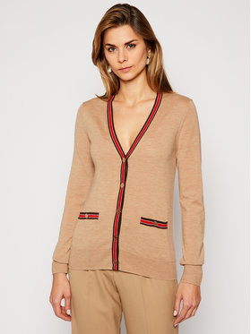 Tory Burch Tory Burch Cardigan Madeline 57330 Marron Regular Fit