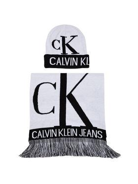 Calvin Klein Jeans Calvin Klein Jeans Set Schal und Mütze J Mirror Monogram Scarf - Beanie K50K505327 Weiß