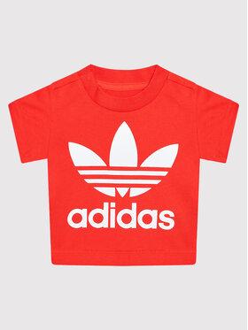 adidas adidas T-Shirt Trefoil H34605 Czerwony Regular Fit