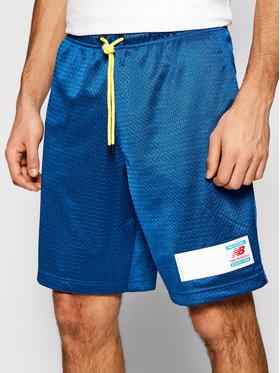 New Balance New Balance Спортни шорти Essentials Mesh MS11503 Син Athletic Fit