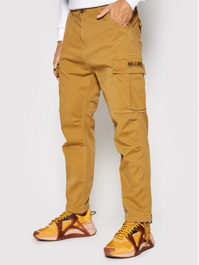Alpha Industries Alpha Industries Pantalon en tissu Squad 188202 Marron Regular Fit