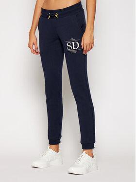 Superdry Superdry Pantaloni trening Established W7010209A Bleumarin Regular Fit