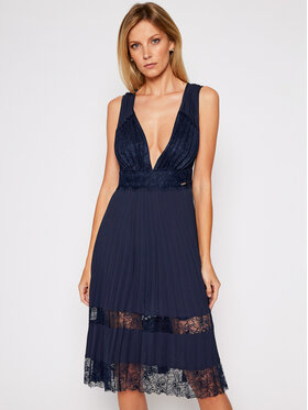 Marciano Guess Marciano Guess Rochie cocktail Romantic Lace 0BG757 8592Z Bleumarin Slim Fit