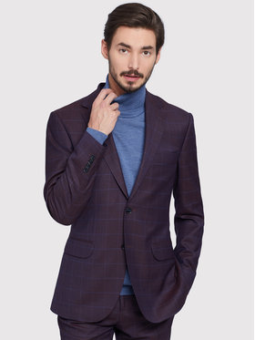 Vistula Vistula Oblek Ancona VI0540 Bordová Super Slim Fit