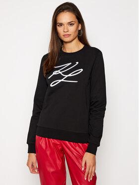 KARL LAGERFELD KARL LAGERFELD Sweatshirt Kl Signature 201W1880 Noir Regular Fit