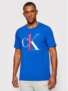 Calvin Klein Underwear Calvin Klein Underwear Tričko Lounge 000NM1903E Modrá Regular Fit