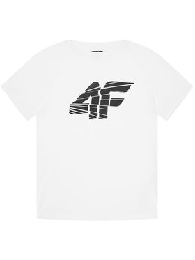 4F 4F Тениска от техническо трико HJL21-JTSM015 Бял Regular Fit