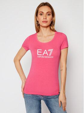 EA7 Emporio Armani EA7 Emporio Armani Marškinėliai 8NTT63 TJ12Z 1405 Rožinė Slim Fit