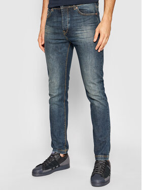 United Colors Of Benetton United Colors Of Benetton Jeansy 4GZ757B98 Tmavomodrá Skinny Fit