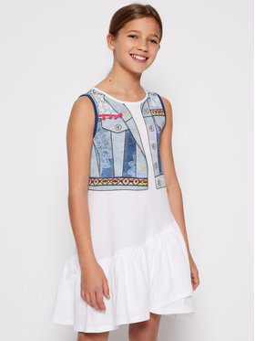 Desigual Desigual Ежедневна рокля Cuautitla 20SGVK35 Бял Regular Fit