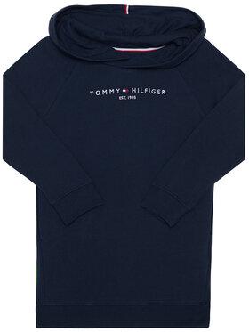 TOMMY HILFIGER TOMMY HILFIGER Každodenní šaty Essential Hooded KG0KG05293 M Tmavomodrá Regular Fit