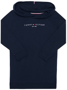 TOMMY HILFIGER TOMMY HILFIGER Sukienka codzienna Essential Hooded KG0KG05293 M Granatowy Regular Fit