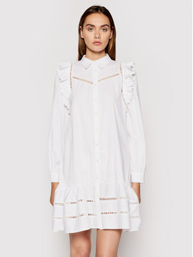 Rinascimento Rinascimento Sukienka koszulowa CFC0102963003 Biały Relaxed Fit
