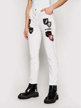 Aeronautica Militare Aeronautica Militare Pantaloni di tessuto 211PA1444DCT2865 Bianco Loose Fit