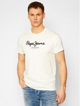 Pepe Jeans Pepe Jeans Тишърт Eggo PM500465 Бял Regular Fit