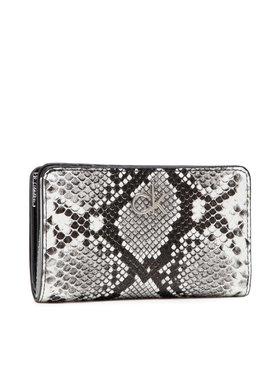 Calvin Klein Calvin Klein Veľká dámska peňaženka Billfold French Wallet Python Pu K60K608329 Sivá
