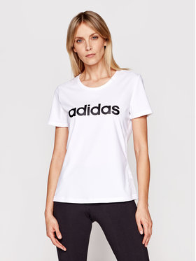 adidas adidas Marškinėliai Design 2 Move Logo DU2080 Balta Standart Fit