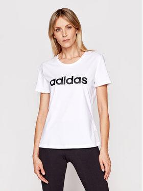 adidas adidas T-Shirt Design 2 Move Logo DU2080 Bílá Standart Fit