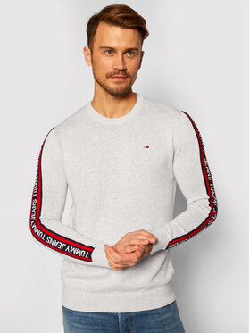 Tommy Jeans Tommy Jeans Pullover Sleeve Tape DM0DM09464 Grau Regular Fit
