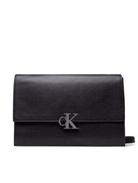 Calvin Klein Jeans Calvin Klein Jeans Torebka Minimal Monogram E/W Flap Xbody K60K608386 Czarny