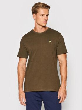 Lyle & Scott Lyle & Scott T-Shirt Plain TS400VOG Zielony Regular Fit