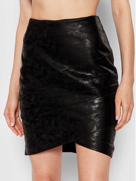 Guess Guess Sukně z imitace kůže Rosalba W1BD15 WE5V0 Černá Slim Fit