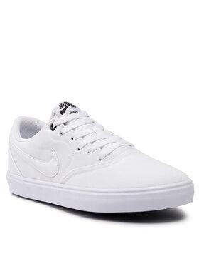 Nike Nike Παπούτσια Sb Check Solar Cnvs 843896 110 Λευκό