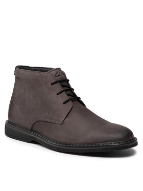 Clarks Clarks Šnurovacia obuv Atticuslt Mid 261613647 Sivá